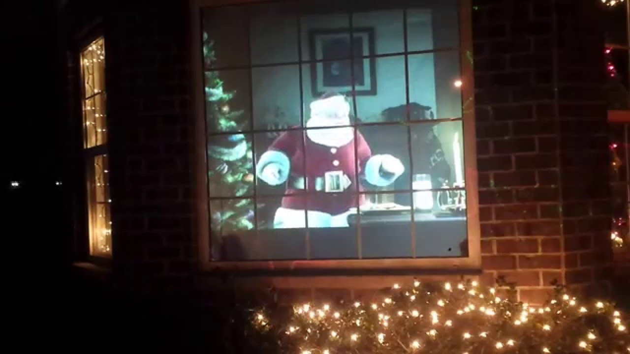 virtual santa 2014 rear projection display atmostcheer fx