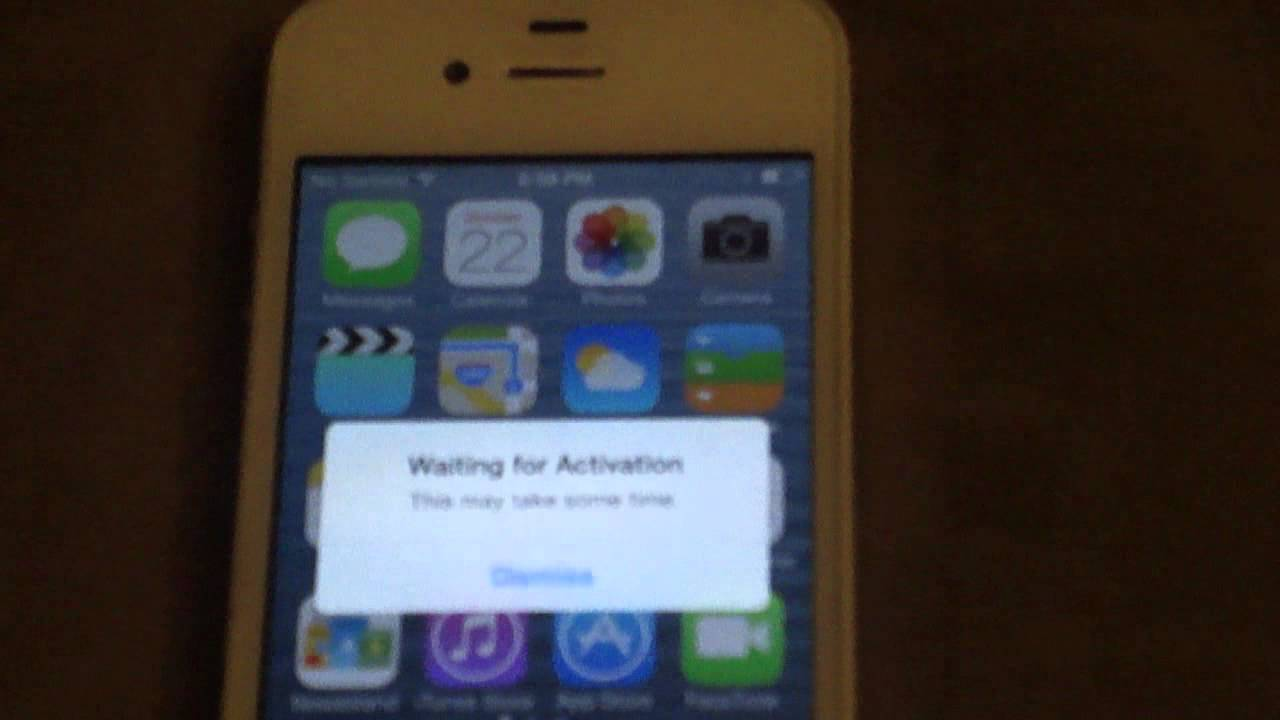 my iphone says no sim after update to ios7 my sprint iphone 4s no longer 2958