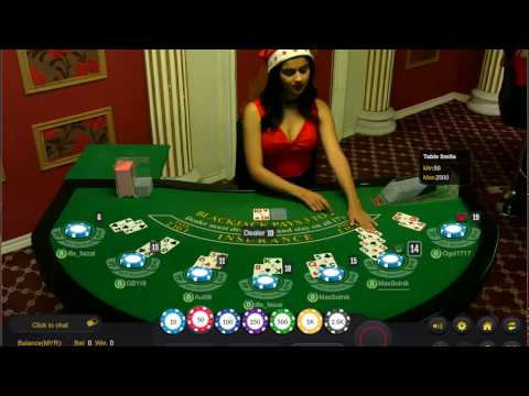 Pretty Girl Dealer Shocked - Malaysia Live Casino