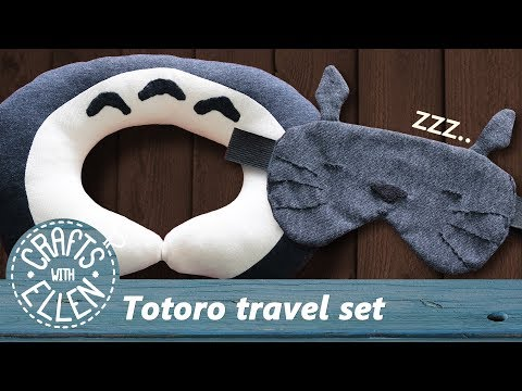 Making a Totoro Travel Pillow & Sleeping Mask | Sewing tutorial