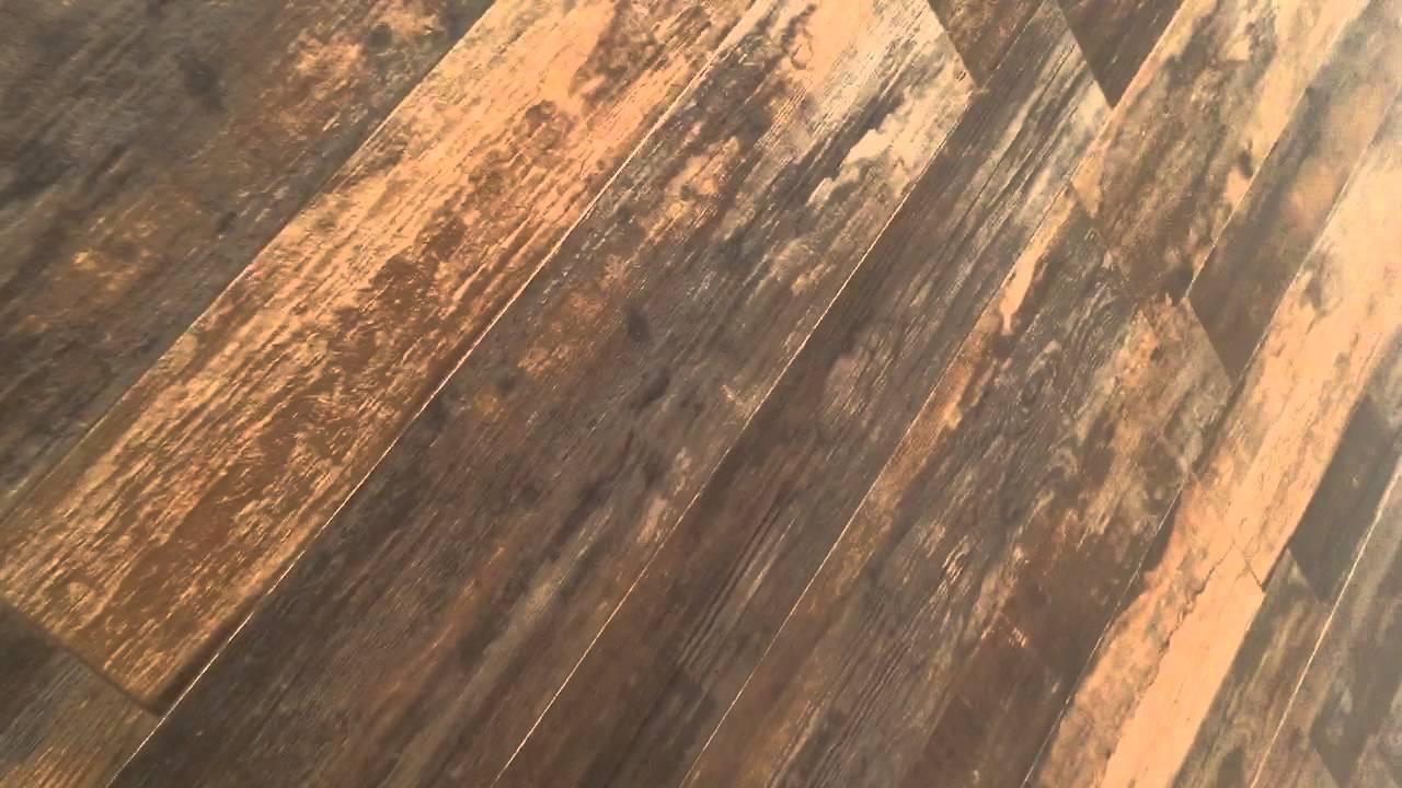 Gr s porcellanato effetto legno invecchiato youtube - Gres porcellanato effetto legno da esterno ...