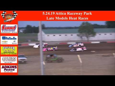 5.24.19 Attica Raceway Park Late Models Heats Races