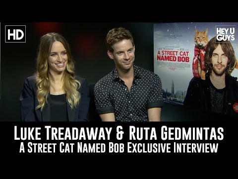 Luke Treadaway & Ruta Gedmintas Exclusive   A Street Cat Named Bob