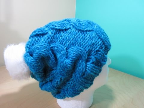Howto knit cable adult hat for beginners