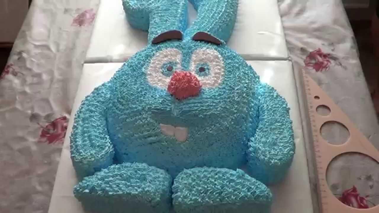 Кремовый торт НЮША. Торт Смешарики Кремовые торты для детей. Как...