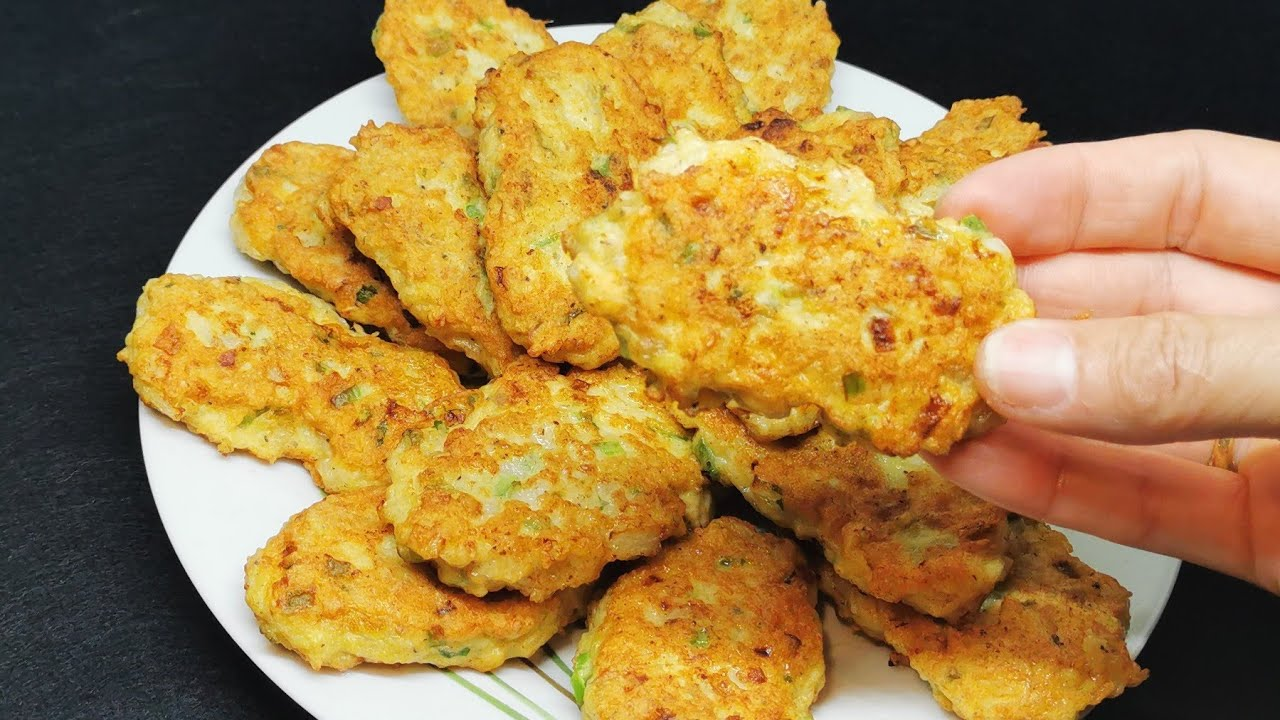 Nunca dejaras de preparar estas deliciosas tortitas de pollo | Receta fácil y sabrosa