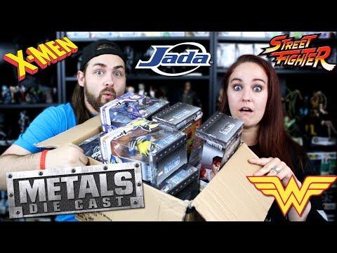 Huge Haul of Metal Diecast Figures - X-Men, Street Fighter, Wonder Woman