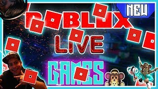 """ROBLOX LIVE STREAM- ROBUX BIG GIVEAWAY-ADDING SUBS -""""TRY YOUR LUCK - #204"""