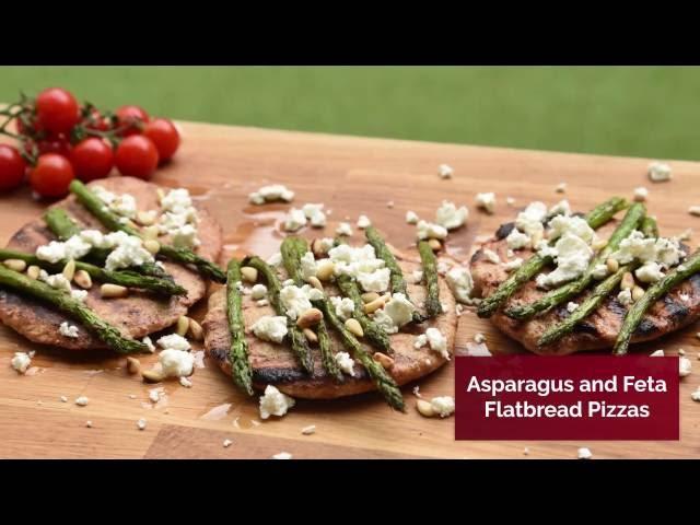 Asparagus & Feta Flatbread Pizzas