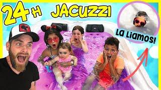 24 HORAS en el JACUZZI con KARINA & MARINA y NENO a ESCONDIDAS 😱 24 Horas en la PISCINA de ESPUMA