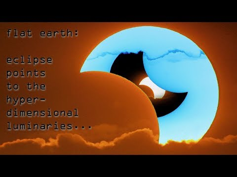 Eclipse points to Hyper-Dimensional Luminaries [Flat Earth]