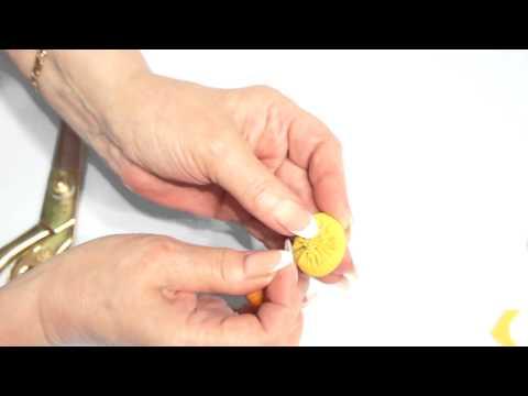 Как обшить пуговицу тканью