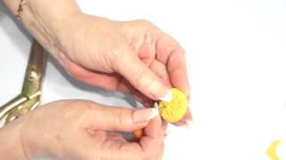 Обтяжка пуговицы тканью вручную со Светланой Поярковой