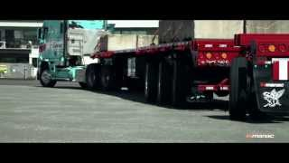 Extendable trailer with Electronic forced Steering System