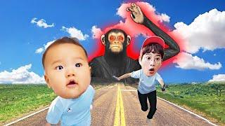 원숭이가 따라와요! Monkey pretend play kid and children funny story | MariAndKids Vlog
