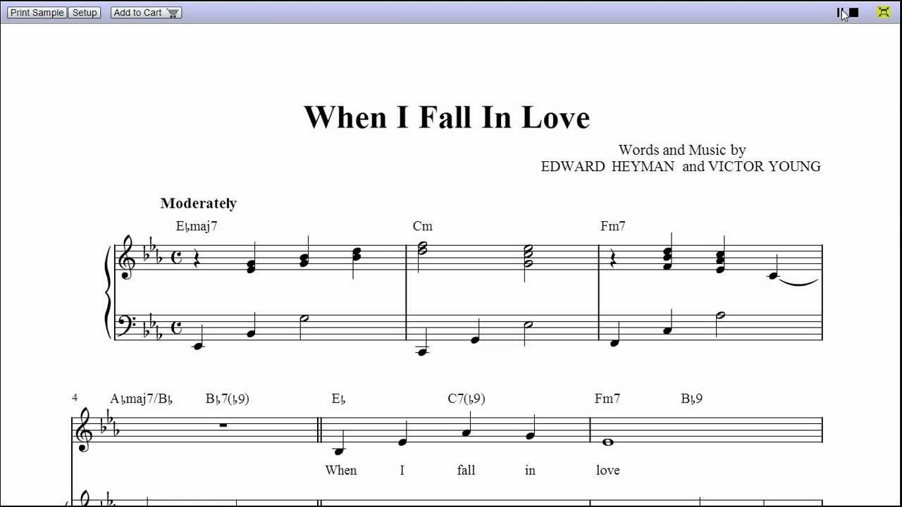 When i fall in love by nat king cole piano sheet music teaser when i fall in love by nat king cole piano sheet music teaser hexwebz Image collections