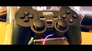 Dual Shock 2 USB PC Gaming Controller GAMEPAD Silent Show Case + Setup
