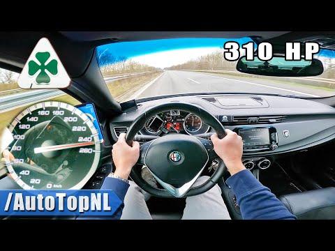 310HP Alfa Romeo Giulietta QV TOP SPEED on AUTOBAHN [NO SPEED LIMIT] by AutoTopNL