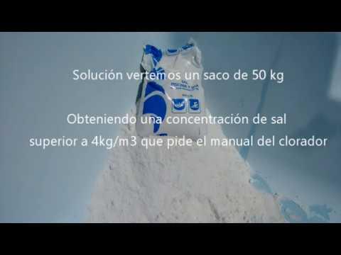Cantidad de sal en piscina