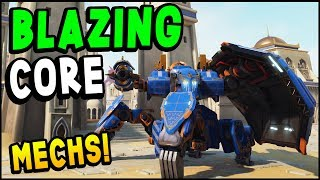 Blazing Core - NEW MECH Team Tactical Game - FREE Beta (Blazing Core Gameplay)