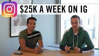 How Josue Pena Makes $25,000 A Week On Instagram! 😱 (Instagram Marketing Agency)