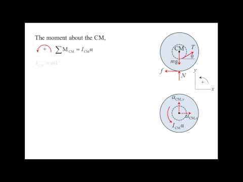 Vector Dynamics: Example, kinetics of rigid bodies (rolling disk)