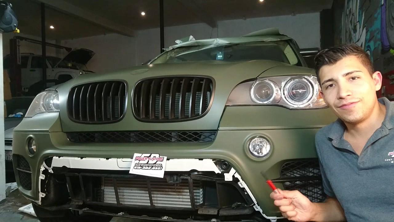 Bmw X5 Military Green Wrap San Go Car Wraps And Window Tint