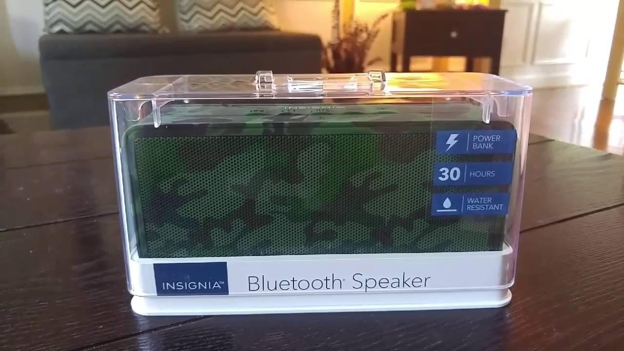 Review: Insignia Bluetooth Speaker w/ Power Bank NS-SPBTBRICK