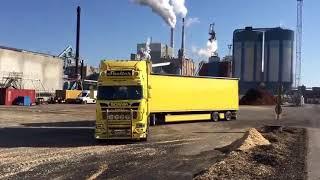 Новые технологии разгрузки. Scania  конечно огонь