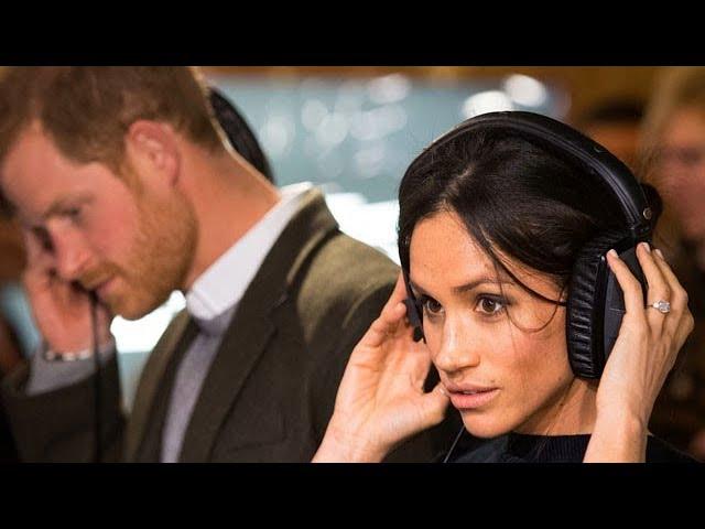 Meghan and Harry don headphones at Brixton radio station