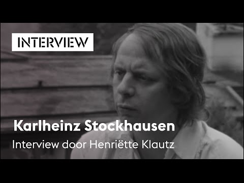 Karlheinz Stockhausen,  door Henriëtte Klautz, Holland Festival 1969