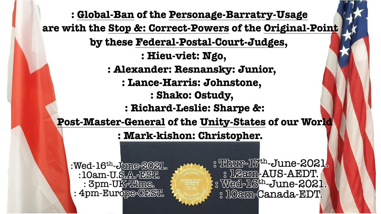 : Global-Ban of the Personage-Barratry-Usage by the Federal-Postal-Court. 16th June 2021.