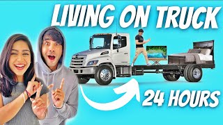 LIVING ON TRUCK FOR 24 HOURS WITH MY BROTHER AND SISTER | Rimorav Vlogs