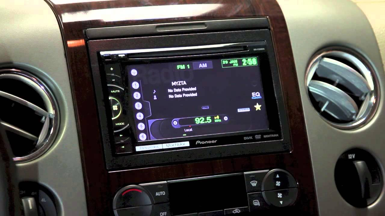 How To Change The Clock On Your Pioneer Avh Dvd Video Car Stereo P3100dvd Navigation Youtube