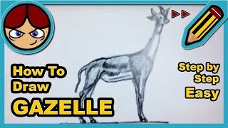 Cómo dibujar una gacela (rápido) - How to draw a gazelle (speed)