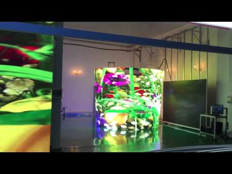 P10 Cylindrical transparent led screen in Beijing