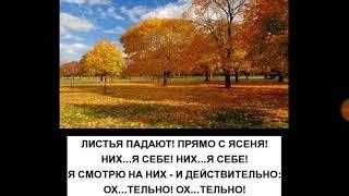 Листья падают-Сергей Есенин-матерный стих