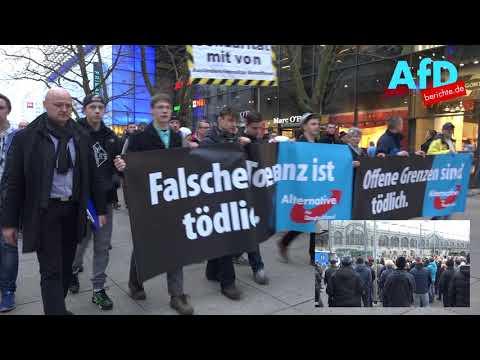 Protestmarsch der AfD gegen zunehmende Gewalt in Dresden