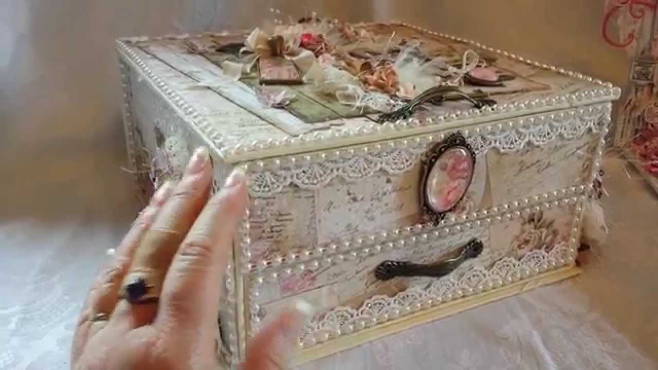 Shabby Vintage Altered Box for Craft Fantastic  YouTube