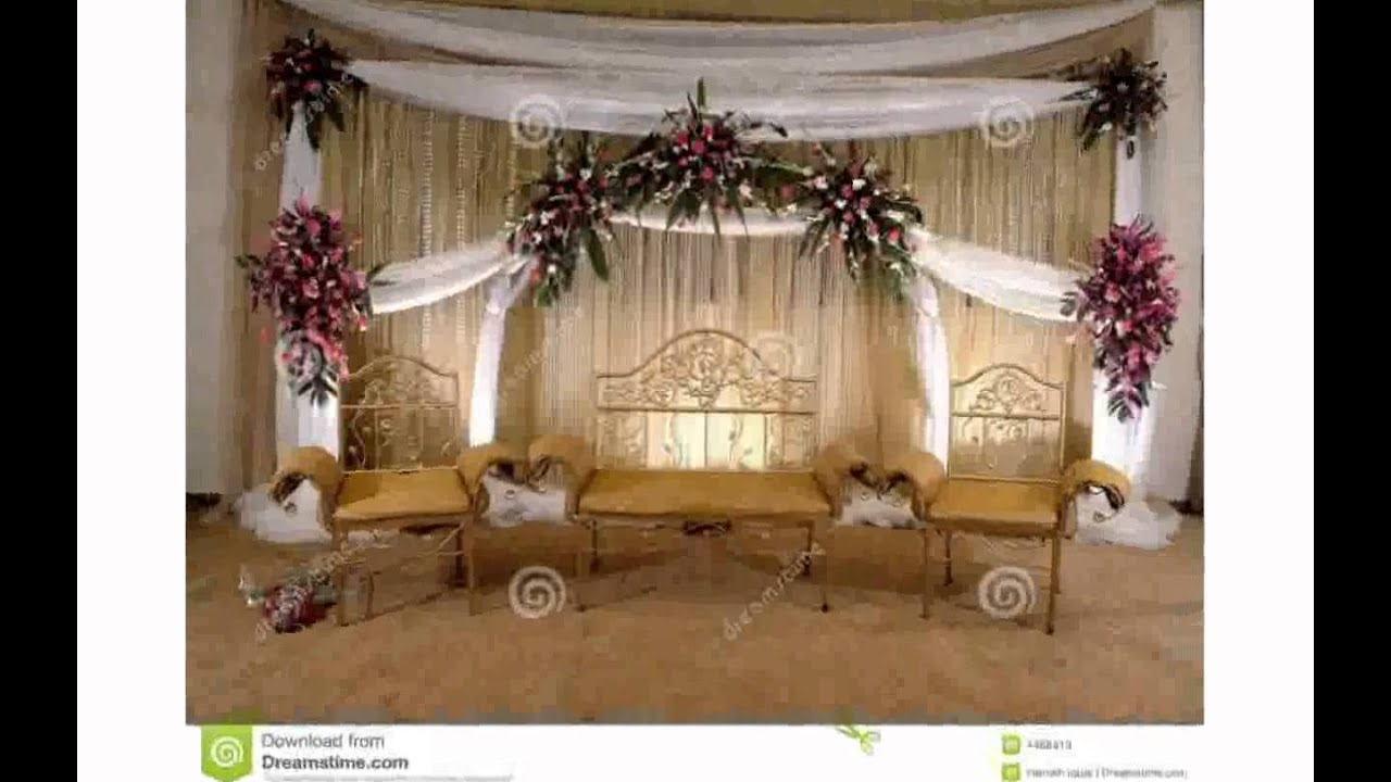 Wedding stage decoration pictures youtube for Decoration decoration