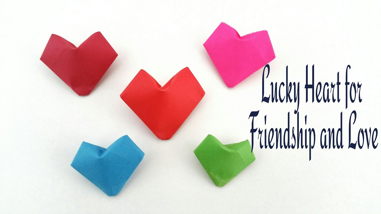"How to make a 3D Paper ""Lucky puffy Heart 💕"" for ... - photo#28"