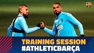 Last workout before LaLiga game against Athletic Club