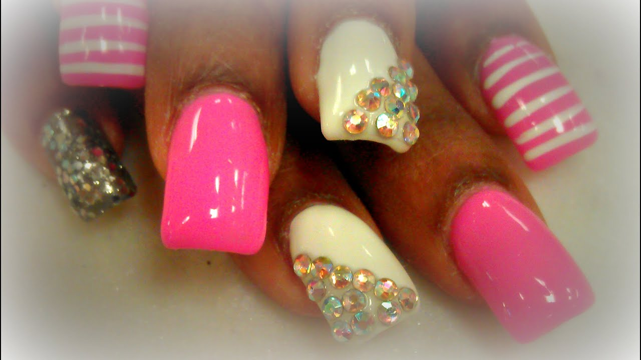 Cute Nails Designs With Diamonds Nail Ftempo