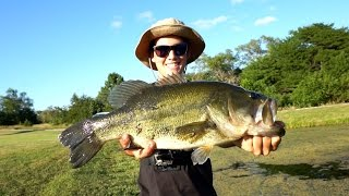 Bass Fishing NEW Ponds for BIG Bass - Tips and Catches