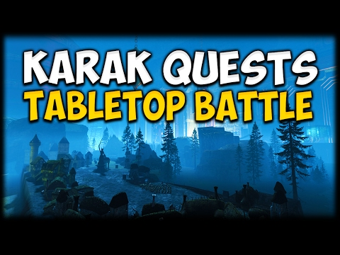 KARAK QUESTS TABLETOP BATTLE! Total War: Warhammer - Custom Battle Map Gameplay vs Heir of Carthage