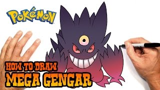 How to Draw Mega Gengar (Pokemon)- Easy Art Lesson