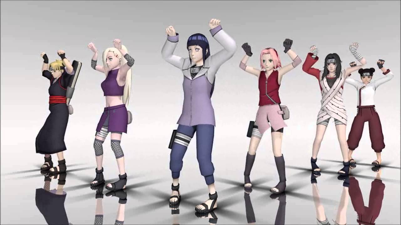 mmd naruto girl characters ievan remix youtube