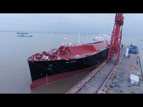 China's latest self-developed LNG carrier gets delivered