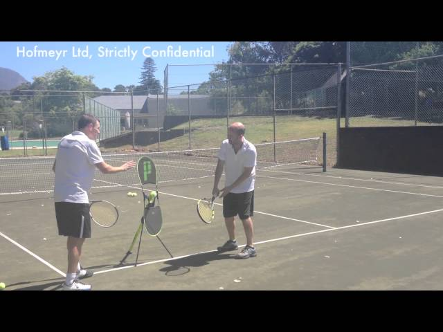Single-hand topspin backhand after using TopspinPro for 30 sec