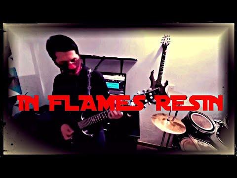 ▷ In Flames - Resin 【Karaoke 】 Guitar cover with lyrics